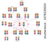 family relationship network...   Shutterstock .eps vector #1078220024
