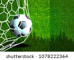 vector  football and net  with... | Shutterstock .eps vector #1078222364