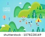 summer travel illustration | Shutterstock .eps vector #1078228169