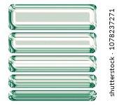 shiny green glass set of... | Shutterstock . vector #1078237271