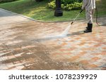 outdoor floor cleaning with a... | Shutterstock . vector #1078239929