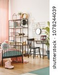 hipster bedroom interior for a... | Shutterstock . vector #1078244039