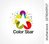 color star logo vector  icon ... | Shutterstock .eps vector #1078245917