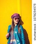 young beautiful woman in... | Shutterstock . vector #1078254575