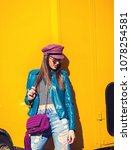 fashion portrait pretty cool... | Shutterstock . vector #1078254581