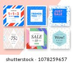 modern promotion square web... | Shutterstock .eps vector #1078259657