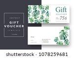 trendy abstract gift voucher... | Shutterstock .eps vector #1078259681