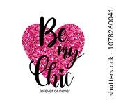 typography slogan with glitter. ... | Shutterstock .eps vector #1078260041