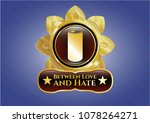 gold emblem or badge with... | Shutterstock .eps vector #1078264271