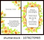 invitation with floral... | Shutterstock . vector #1078270985