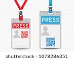 press journalist vertical badge ... | Shutterstock .eps vector #1078286351