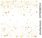 gold stars background frame... | Shutterstock .eps vector #1078288514