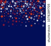 patriotic american stars... | Shutterstock .eps vector #1078289705