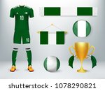 nigeria soccer set collection.... | Shutterstock .eps vector #1078290821