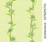 tropical flower bird of... | Shutterstock .eps vector #1078292741