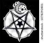 reverse pentagram symbol with... | Shutterstock .eps vector #1078292801