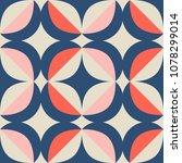 seamless retro pattern in... | Shutterstock .eps vector #1078299014