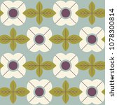 seamless pattern with flowers... | Shutterstock .eps vector #1078300814