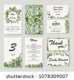 wedding invitation  rsvp modern ... | Shutterstock .eps vector #1078309007