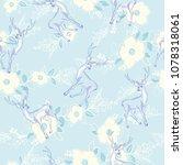 reindeer seamless pattern | Shutterstock .eps vector #1078318061
