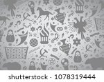 russian pattern wallpaper... | Shutterstock .eps vector #1078319444