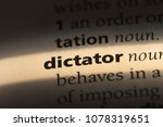 dictator word in a dictionary.... | Shutterstock . vector #1078319651