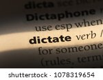 dictate word in a dictionary.... | Shutterstock . vector #1078319654