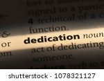 dedication word in a dictionary.... | Shutterstock . vector #1078321127