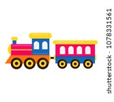 cartoon cute train with railway ... | Shutterstock .eps vector #1078331561