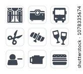 premium fill icons set on white ... | Shutterstock .eps vector #1078335674