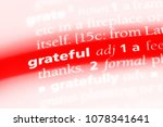 grateful word in a dictionary.... | Shutterstock . vector #1078341641