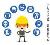 personal protective equipment... | Shutterstock .eps vector #1078341947