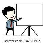 business man presentation | Shutterstock .eps vector #107834435