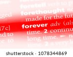 forever word in a dictionary.... | Shutterstock . vector #1078344869