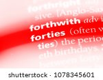 forties word in a dictionary.... | Shutterstock . vector #1078345601