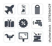 premium fill icons set on white ... | Shutterstock .eps vector #1078346429