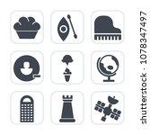 Premium Fill Icons Set On White ...