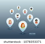 vector infographic illustration ... | Shutterstock .eps vector #1078353371