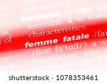 femme fatale word in a... | Shutterstock . vector #1078353461