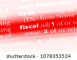 fiscal word in a dictionary.... | Shutterstock . vector #1078353524