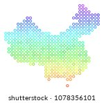 spectral china map. vector... | Shutterstock .eps vector #1078356101