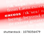 Small photo of excess word in a dictionary. excess concept