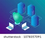data protection and cyber... | Shutterstock .eps vector #1078357091