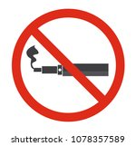 stop smoking  no e cigatette... | Shutterstock .eps vector #1078357589