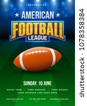 american football league poster ... | Shutterstock .eps vector #1078358384