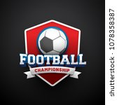 text football championship with ...   Shutterstock .eps vector #1078358387