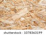 texture of osb fiberboard from... | Shutterstock . vector #1078363199