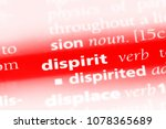 Small photo of dispirit word in a dictionary. dispirit concept