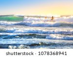 riding the waves. bali ... | Shutterstock . vector #1078368941