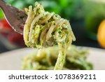 close up of pasta spaghetti... | Shutterstock . vector #1078369211